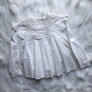 ☀️3/$25 Zara Kids White Lace Cotton Dress Top